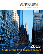 Cover of 2015 State of the IPv4 Market Report