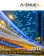 Cover of 2016 State of the IPv4 Market Report